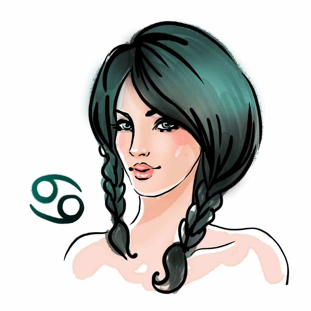 Cancer zodiac sign as a beautiful girl - Aries Man and Cancer Woman