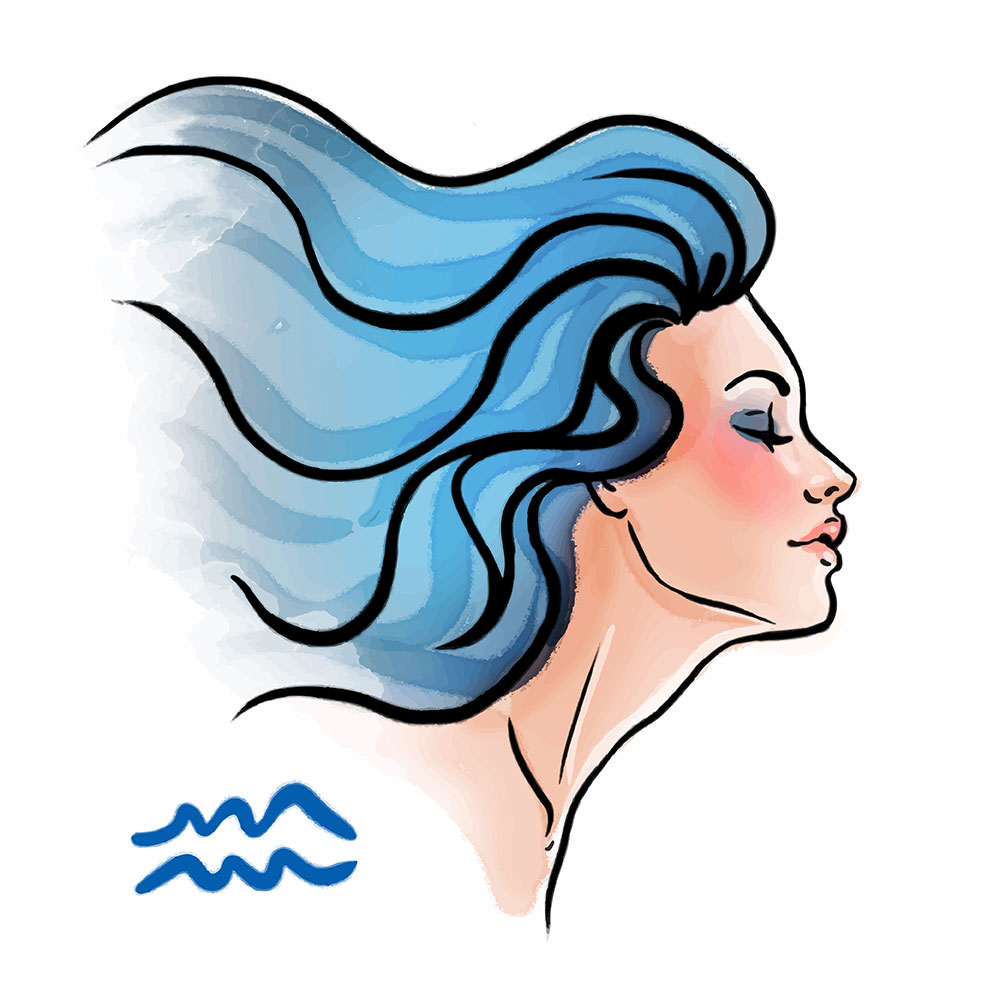 Aquarius As A Beautiful Woman - Aries Man and Aquarius Woman