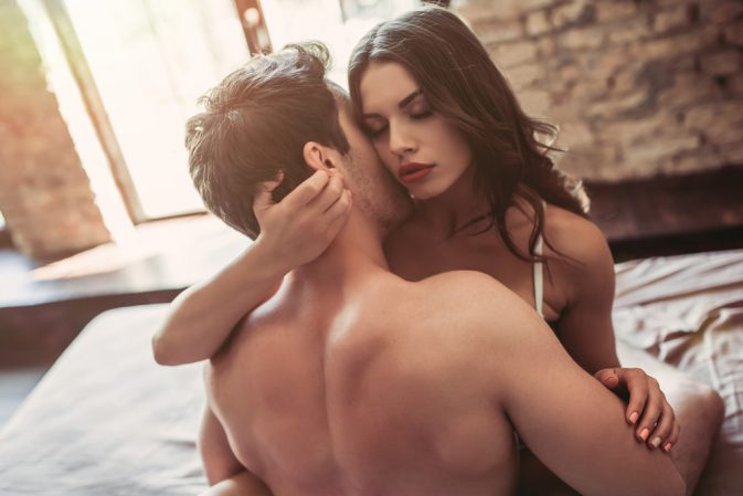 Aries Man and Aquarius Woman in Bed